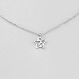 Silver Star Capricorn Necklace - 22/12 to 19/1 - Jewelry - Prjewel.com - 1
