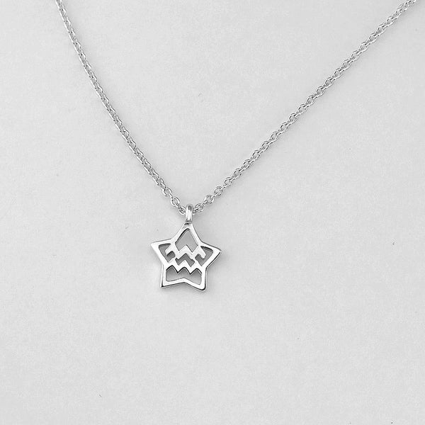 Silver Star Aquarius Necklace - 20/1 to 18/2 - Jewelry - Prjewel.com - 1
