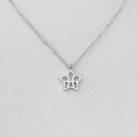 Silver Star Pisces Necklace - 19/2 to 20/3 - Jewelry - Prjewel.com - 1