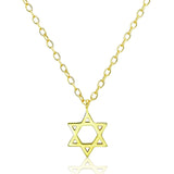 Gold Plated Sterling Silver Star of David Necklace - Jewelry - Prjewel.com - 1