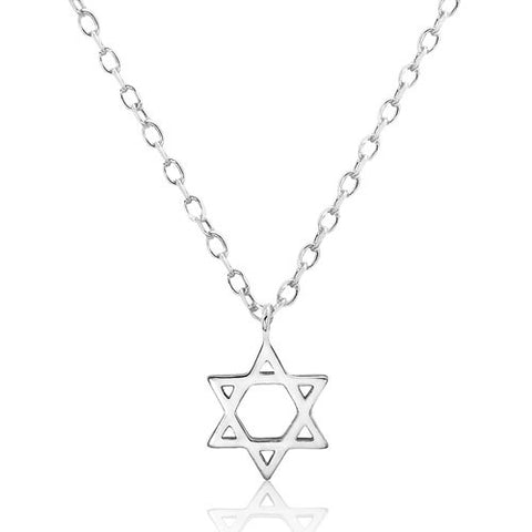 Sterling Silver Star of David Necklace - Jewelry - Prjewel.com - 1