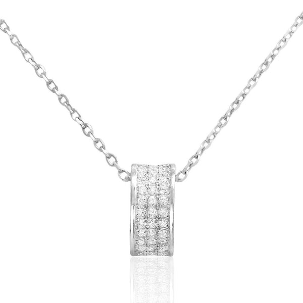 Beautiful Sterling Silver Cubic Zirconia Elegant Necklace - Jewelry - Prjewel.com - 1