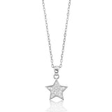 Sterling Silver Cubic Zirconia Sparkling Star Necklace - Jewelry - Prjewel.com - 1