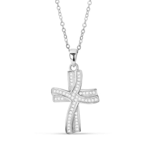 Sterling Silver Luxury Cross Pendant Necklace