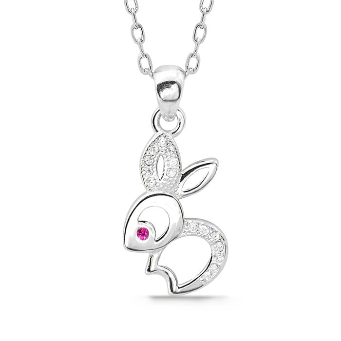 Silver Rabbit Necklace 2
