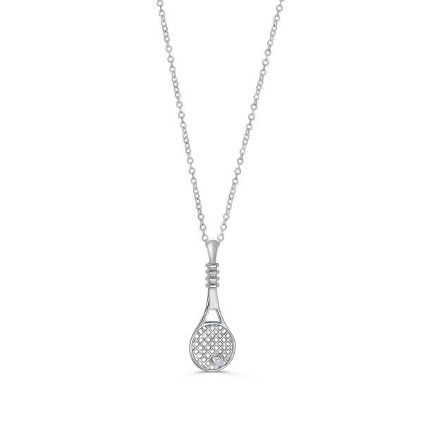 Silver Tennis Necklace