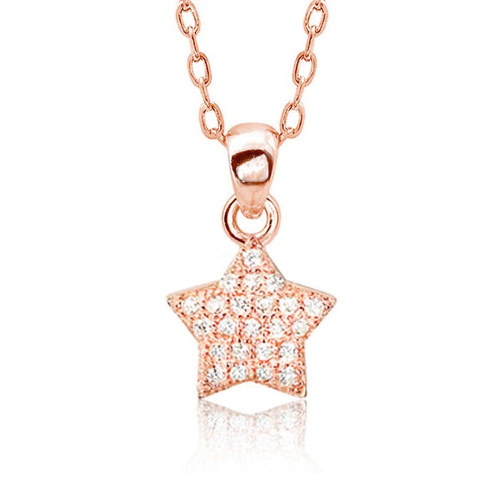 Rose Gold Plated Silver Little Star Necklace 2
