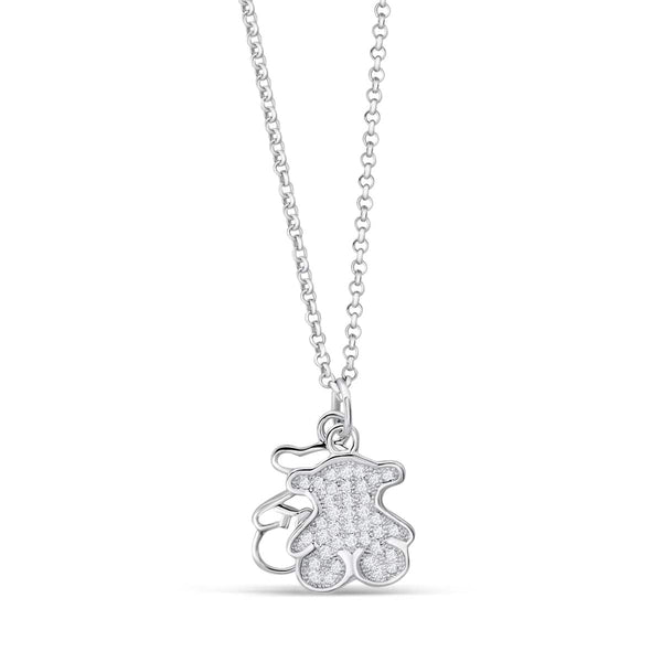 Lovely Sterling Silver Bear Necklace