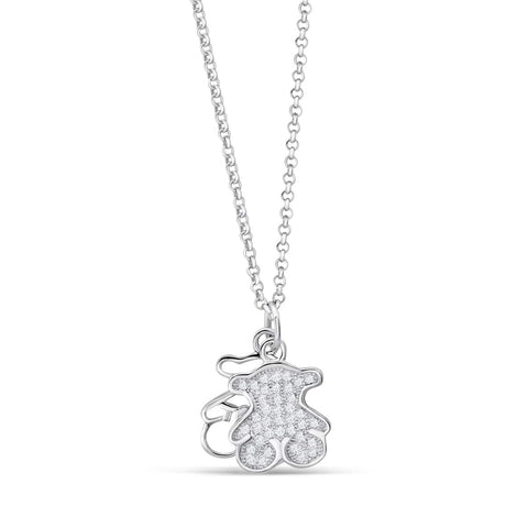 Silver Bear Necklace
