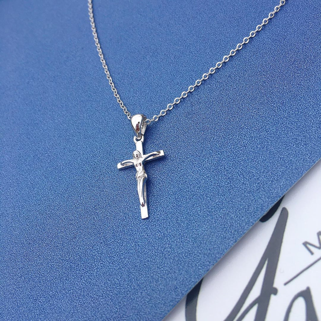 925 Sterling Silver Jesus Cross Necklace