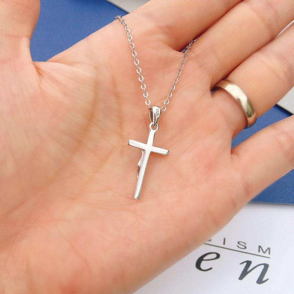 925 Sterling Silver Jesus Cross Necklace 3