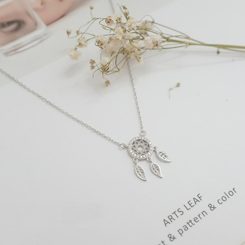 925 Sterling Silver Dream Catcher Necklace 4
