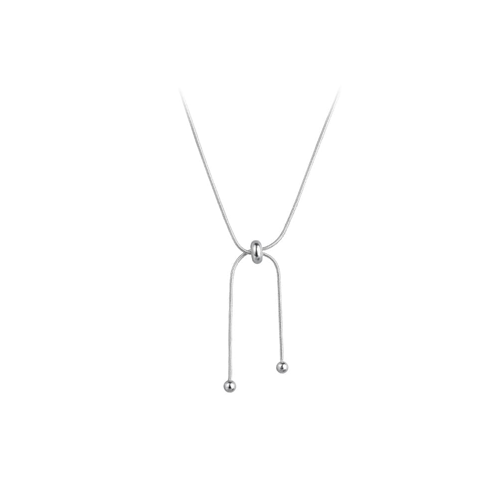 Simple 925 Sterling Silver Adjustable Necklace 5