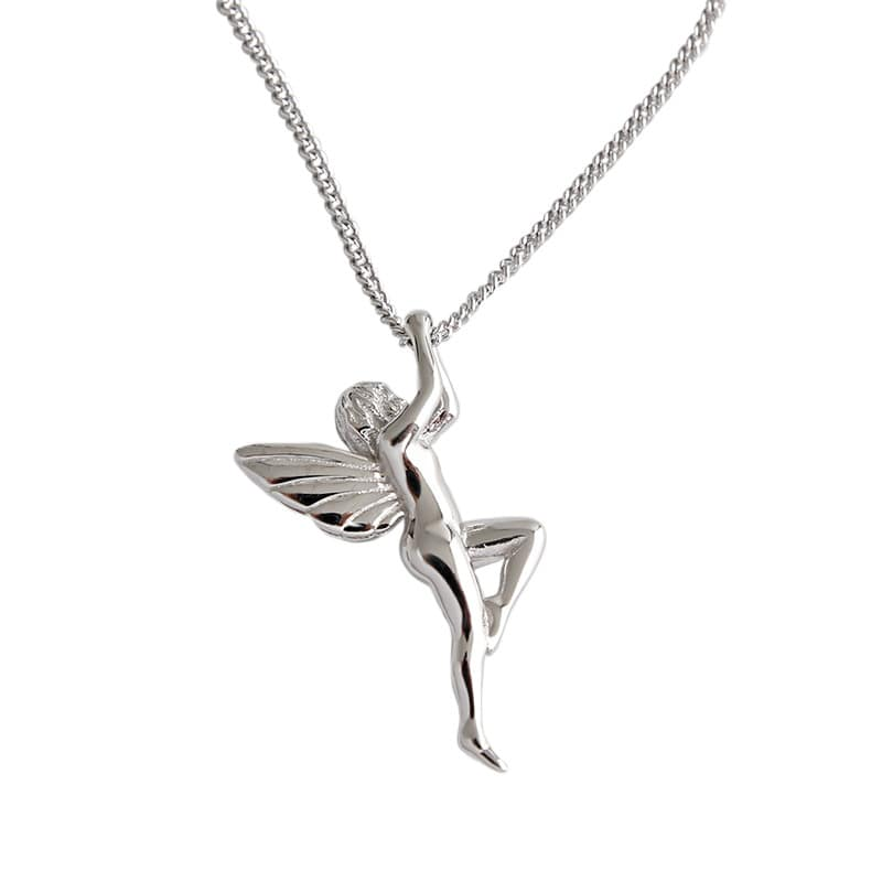 925 Sterling Silver Guardian Angel Charm Pendant Necklace 5