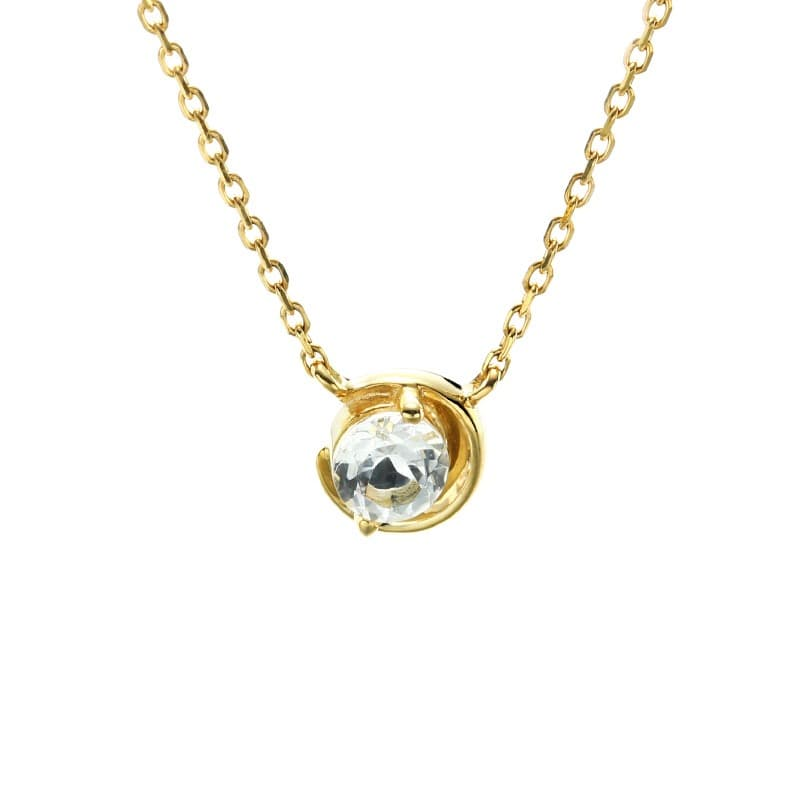 9K Solid Gold Natural Topaz necklace Jewelry