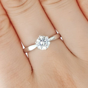 Hearts and Arrows Cubic Zirconia Sterling Silver Ring 2
