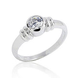 Sterling Silver 1.4 Carat CZ Fashion Ring - Jewelry - Prjewel.com - 1