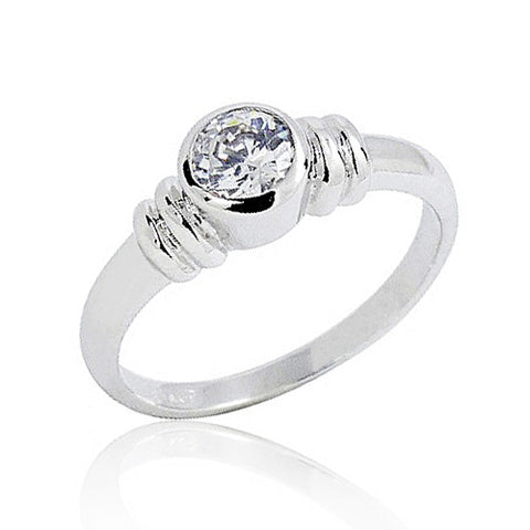 Sterling Silver 1.4 Carat CZ Fashion Ring