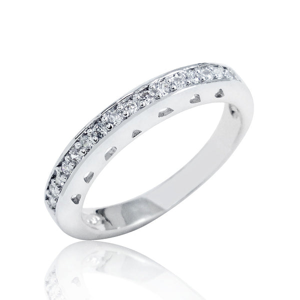 Sterling Silver Cubic Zirconia Beautiful Ring - Jewelry - Prjewel.com - 1