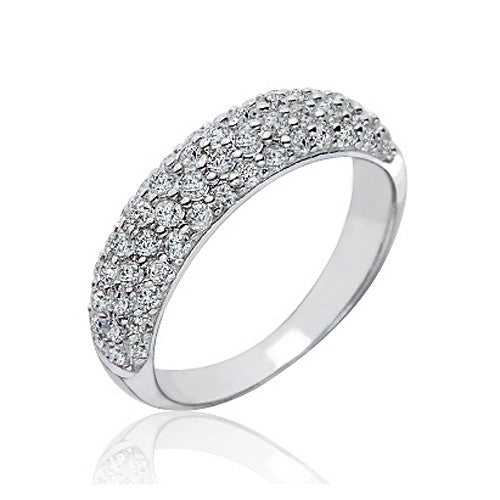 Stunning Sterling Silver 1.8 Carat Cubic Zirconia Cluster Ring - Jewelry - Prjewel.com - 1