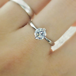 Sterling Silver 1.4 Carat CZ Solitaire Ring 2