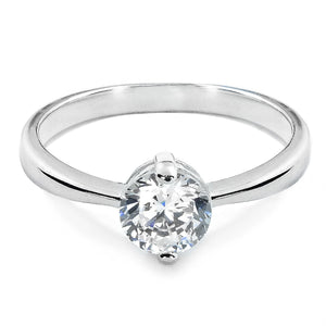 Sterling Silver 1.4 Carat CZ Solitaire Ring