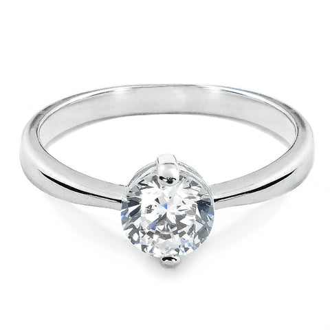 Sterling Silver 1.4 Carat CZ Solitaire Ring - Jewelry - Prjewel.com - 1