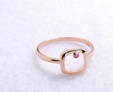 Pretty Cute 925 Sterling Silver Pink Crystal Ring Rose - Jewelry - Prjewel.com - 1