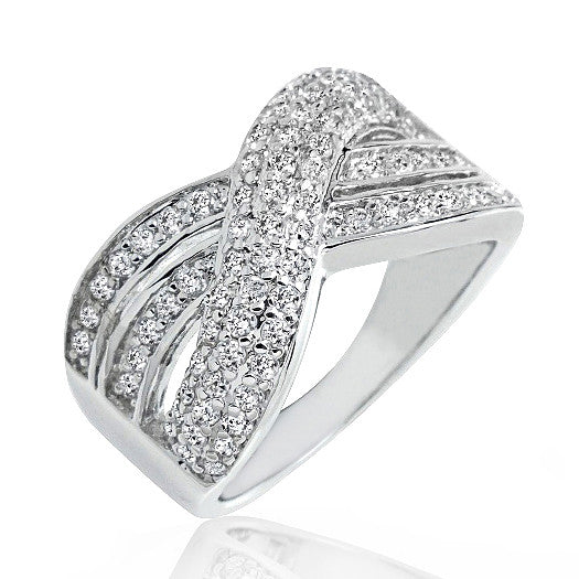 Stunning 925 Sterling Silver 2.37 Carat Cubic Zirconia Ring - Jewelry - Prjewel.com - 1