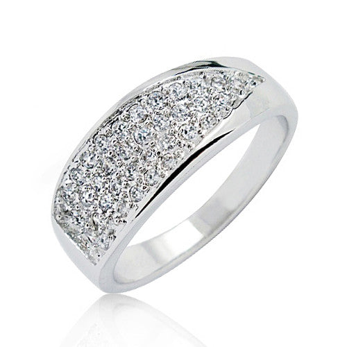 Sterling Silver 0.81 Carat CZ Cluster Ring - Jewelry - Prjewel.com - 1