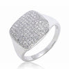 Gorgeous 925 Sterling Silver Micro Pave 1.17 Carat CZ Ring