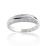 925 Sterling Silver Micro Pave Setting 0.44 Carat Cubic Zirconia Ring - Jewelry - Prjewel.com - 1