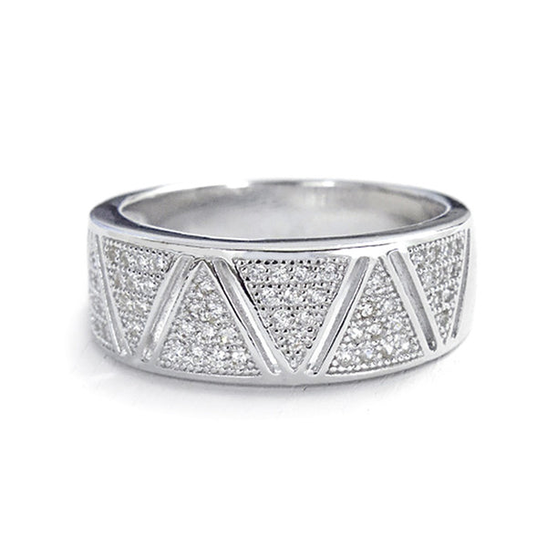 Graceful Micro Pave Setting Cubic Zirconia 925 Sterling Silver Ring - Jewelry - Prjewel.com - 1