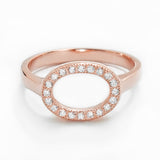 Rose Gold Plated 925 Sterling Silver CZ Circular Ring - Jewelry - Prjewel.com - 1