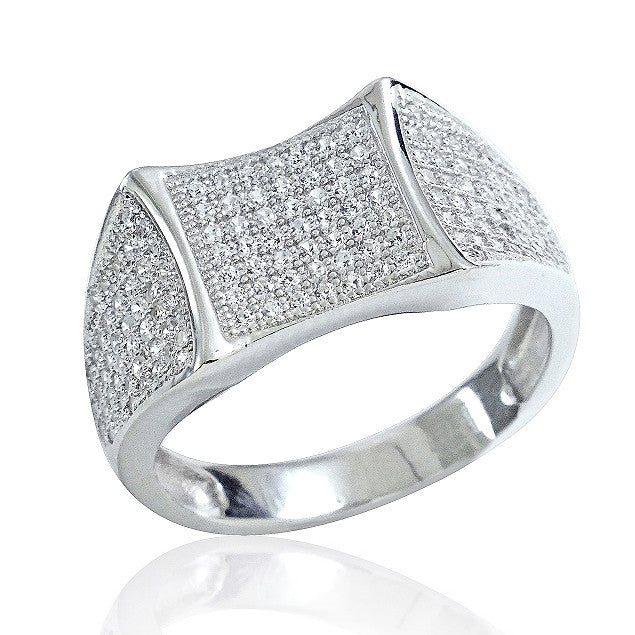 Gorgeous 925 Sterling Silver Micro Pave Setting CZ Beautiful Ring - Jewelry - Prjewel.com - 1
