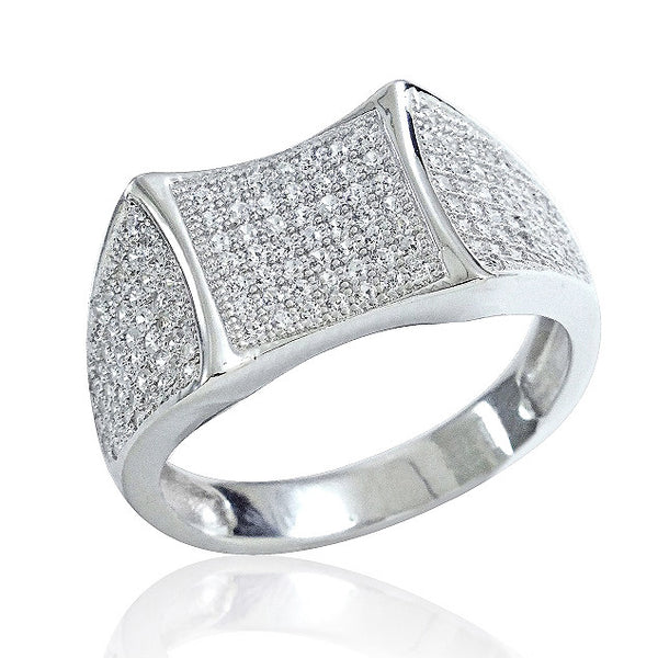 Gorgeous 925 Sterling Silver Micro Pave Setting CZ Beautiful Ring