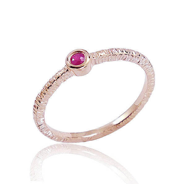 Fancy Rose Gold Plated 925 Sterling Silver Ruby Ring