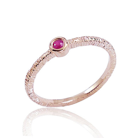 Fancy Rose Gold Plated 925 Sterling Silver Ruby Ring - Jewelry - Prjewel.com - 1