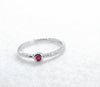 Fancy 925 Sterling Silver Ruby Ring