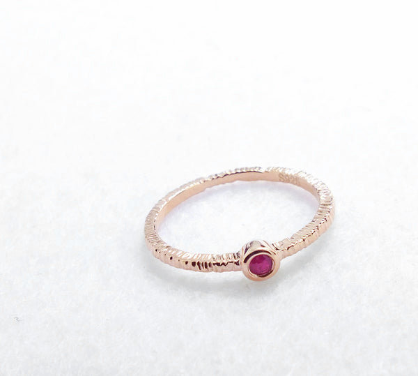 Fancy Rose Gold Plated 925 Sterling Silver Ruby Ring - Jewelry - Prjewel.com - 2