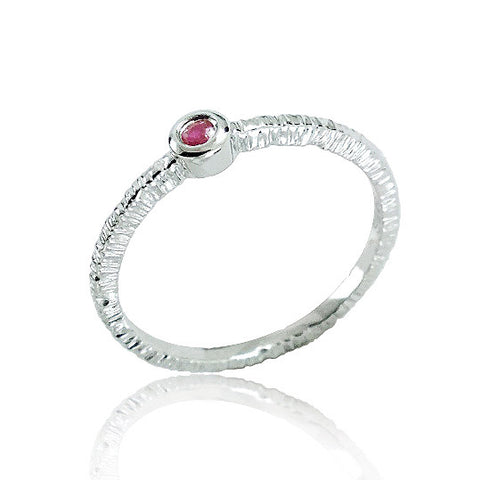 Fancy 925 Sterling Silver Ruby Ring - Jewelry - Prjewel.com - 1