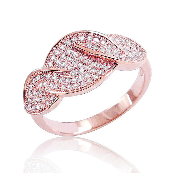 Rose Gold Plated Silver Micro Pave Setting 0.86 Carat Cz Ring - Jewelry - Prjewel.com - 1