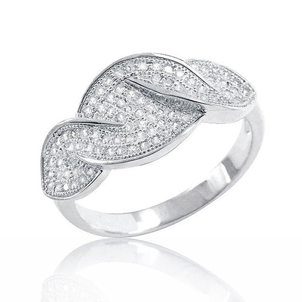 925 Sterling Silver Micro Pave Setting 0.86 Carat Cz Ring