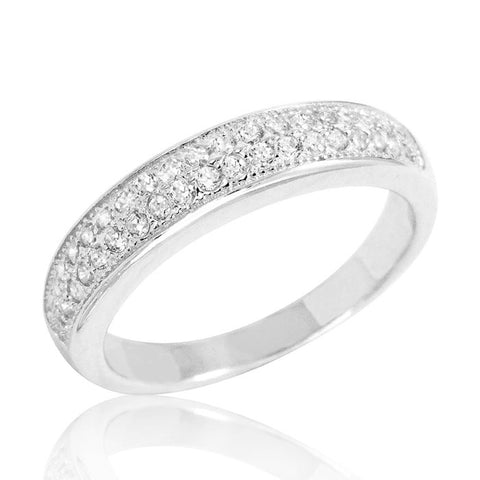 Beautiful Micro Pave Setting Cubic Zirconia 925 Sterling Silver Ring - Jewelry - Prjewel.com - 1
