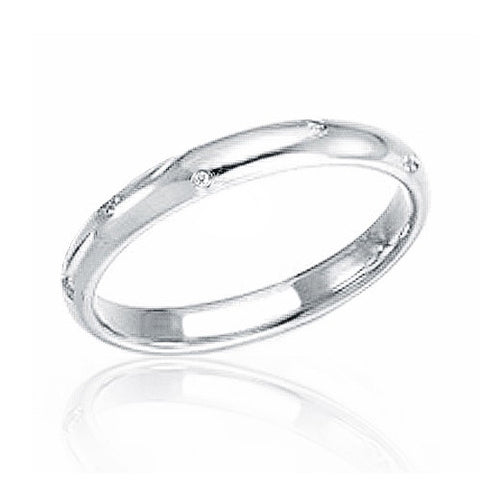 Classic 925 Sterling Silver Cubic Zirconia Band Ring - Jewelry - Prjewel.com - 1