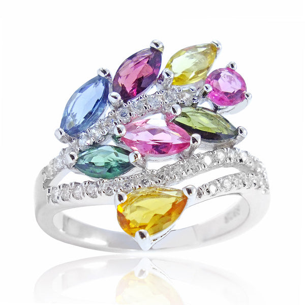 Graceful 925 Sterling Silver 2.3 Carat Natural Tourmaline Ring - Jewelry - Prjewel.com - 1