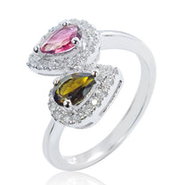 Beautiful 925 Sterling Silver 0.6 Carat Natural Tourmaline Ring - Jewelry - Prjewel.com - 1