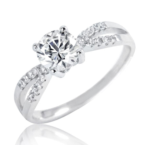 Gracious 1.4 Ct Brilliant Cut 925 Sterling Silver CZ Ring