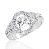 925 Sterling Silver Graceful Princess Cut Cubic Zirconia Ring - Jewelry - Prjewel.com - 1