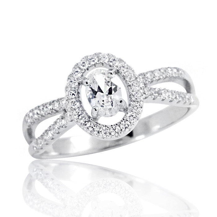Oval Cubic Zirconia Beautiful 925 Sterling Silver Ring - Jewelry - Prjewel.com - 1